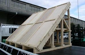 輸送用斜め木箱